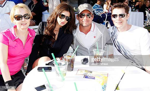 Caroline Carver Hope Dworaczyk Christian Slater and Kenny Doughty attend the 6th Annual KSwiss Desert Smash Day 1 at La Quinta Resort and Club on...
