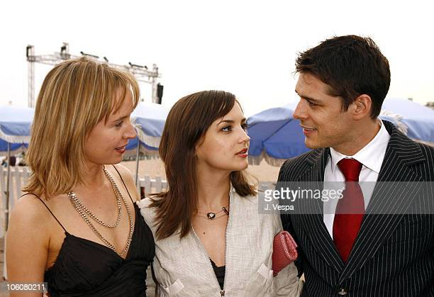 Caroline Carver Rachael Leigh Cook and Kenny Doughty