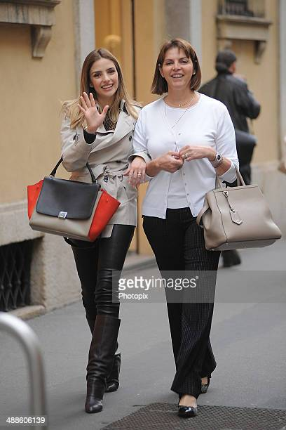 Caroline Celico and Simone Leite are seen on May 7 2014 in Milan Italy
