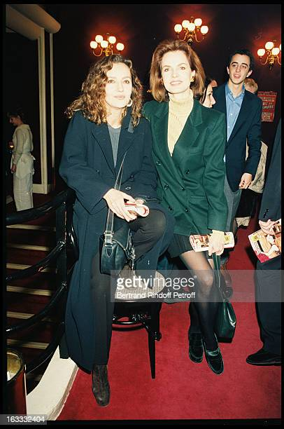 Caroline Cellier and Cyrielle Clair at theParis Theatre Production Of Chateau En Suede At The Theatre Saint George 1998