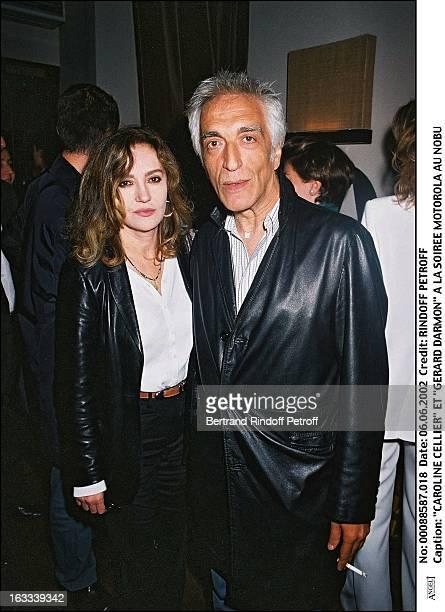 Caroline Cellier and Gerard Darmon Motorola party at Nobu in Paris in 2002