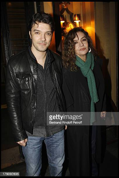 Caroline Cellier and son Nicolas Poiret at The 60th Birthday Celebration Of Dominique Segall At Mathys Restaurant In Paris