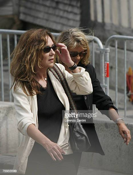 Caroline Cellier attends the funeral of Michel Serrault on August 2 2007 in Honfleur France