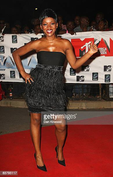 Caroline Chikezie arrives for the MTV Africa Music Awards 2008 at the Abuja Velodrome on November 22, 2008 in Abuja, Nigeria.