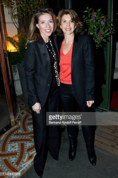 Caroline Chretiennot and Anne Nivat attend the La Closerie des Lilas Literary Awards 2019 at La Closerie des Lilas on April 16 2019 in Paris France
