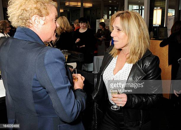 Caroline Collins and Frances Cain attend the Maggie's Barts fundraising luncheon at Le Cafe Anglais on March 19 2013 in London England