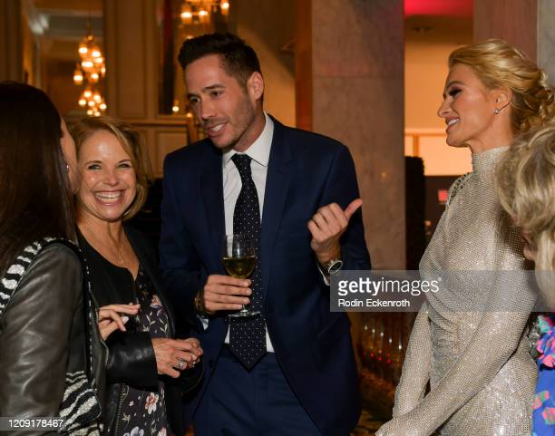 Caroline Couric Monahan Katie Couric and Paris Hilton at The Women's Cancer Research Fund's An Unforgettable Evening 2020 at Beverly Wilshire A Four...