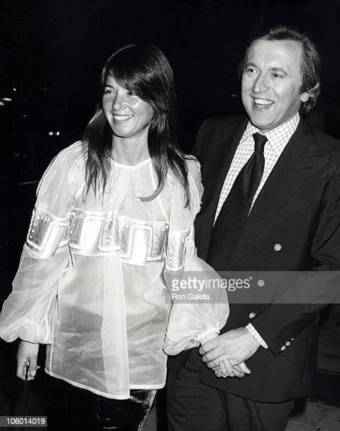 Caroline Cushing and David Frost during David Frost Sighted at La Scala Restaurant at La Scala Restaurant in Beverly Hills California United States