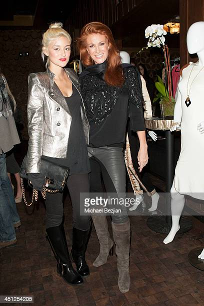 Caroline D'Amore and Angie Everhart attend House Of 11 Spring/Summer 2014 Press Preview on November 21, 2013 in Los Angeles, California.