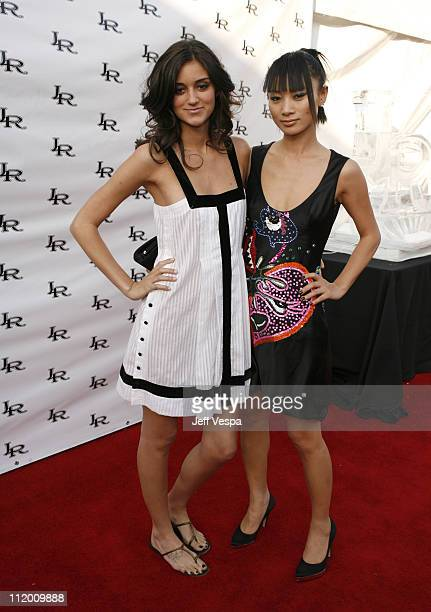 Caroline D'Amore and Bai Ling during Dash Fall 2007 Fashion Show at Luxury Lounge in Los Angeles California United States