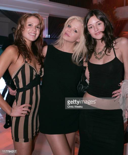 Caroline D'Amore and guests during Jimmy Kimmel Hosts the Launch of The Samsung BlackJack Inside at Boulevard3 in Hollywood California United States