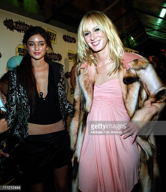 Caroline D'Amore and Kimberly Stewart during Usher Host Truth Tour DVD Launch Party at Hollywood Roosevelt Hotel in Hollywood CA United States