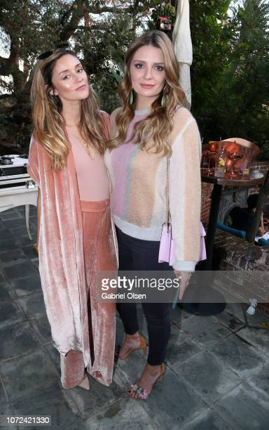 Caroline D'Amore and Mischa Barton attend the PREY SWIM 'Summer in December' Fashion Show hosted by Audrina Patridge at the residence of Jonas Tahlin...