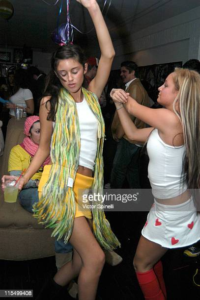 Caroline D'Amore and Nicole Richie during Taryn Manning and Siri Garber's Birthday Party at HQ Salon in Hollywood California United States