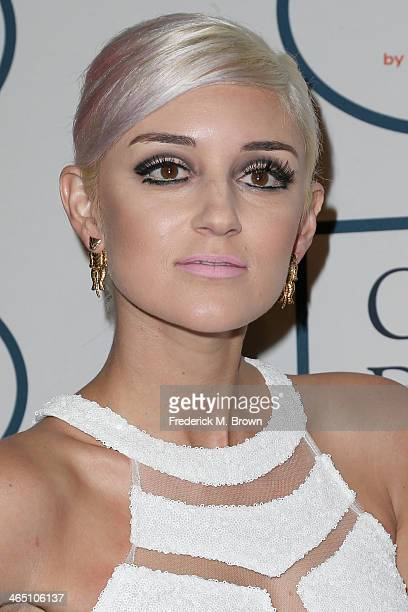 Caroline D'Amore attends the 56th annual GRAMMY Awards PreGRAMMY Gala and Salute to Industry Icons honoring Lucian Grainge at The Beverly Hilton on...