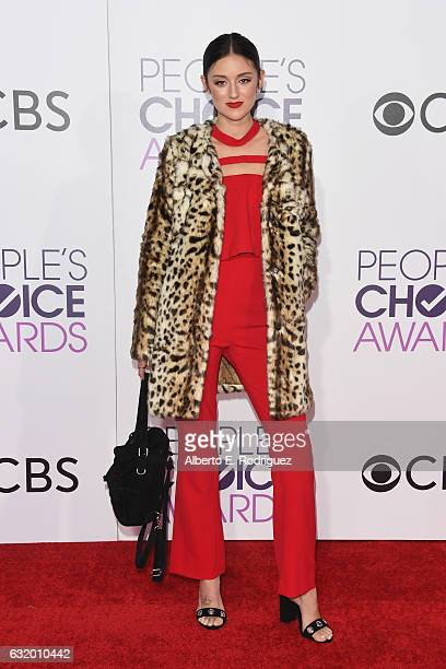 Caroline D'Amore attends the People's Choice Awards 2017 at Microsoft Theater on January 18 2017 in Los Angeles California