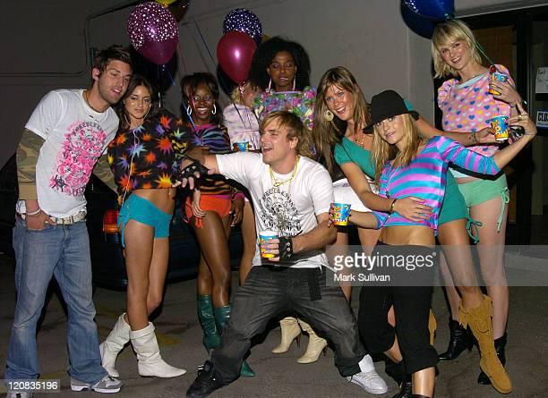 Caroline D'Amore, Chad Muska, Tara Jane and Taryn Manning with models