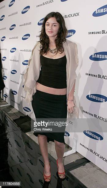 Caroline D'Amore during Jimmy Kimmel Hosts the Launch of The Samsung BlackJack Red Carpet at Boulevard3 in Hollywood California United States
