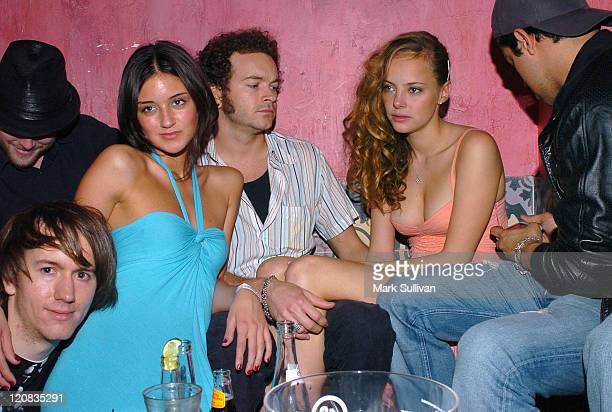 Caroline D'Amore left blue dress Danny Masterson Bijou Phillips and Wilmer Valderrama