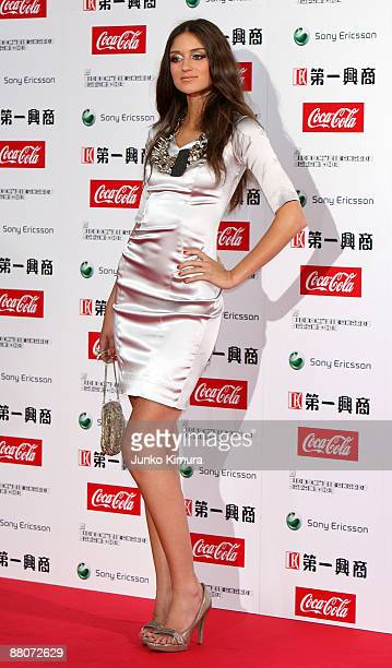 Caroline D'Amore walks on the red carpet during the MTV Video Music Awards Japan 2009 at Saitama Super Arena on May 30 2009 in Saitama Japan