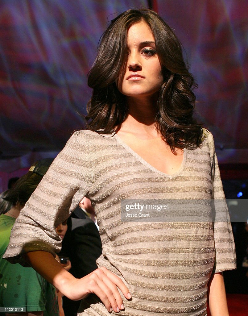 Caroline D'Amore wearing Dash Fall 2007 during Dash Fall 2007 Fashion Show at Luxury Lounge in Los Angeles, California, United States.