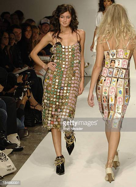 Caroline D'Amore wearing Meghan Spring 2007 during MercedesBenz Spring 2007 Los Angeles Fashion Week at Smashbox Studios Meghan Runway at Smashbox in...