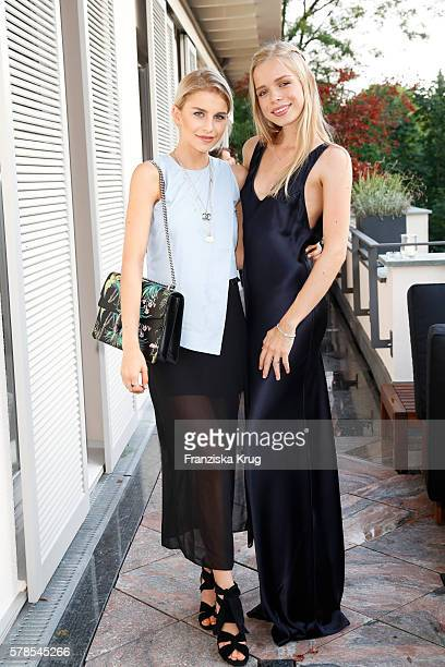 Caroline Daur and Charly Sturm attend the 'Dr Barbara Sturm NetAPorter' Dinner Party on July 21 2016 in Munich Germany