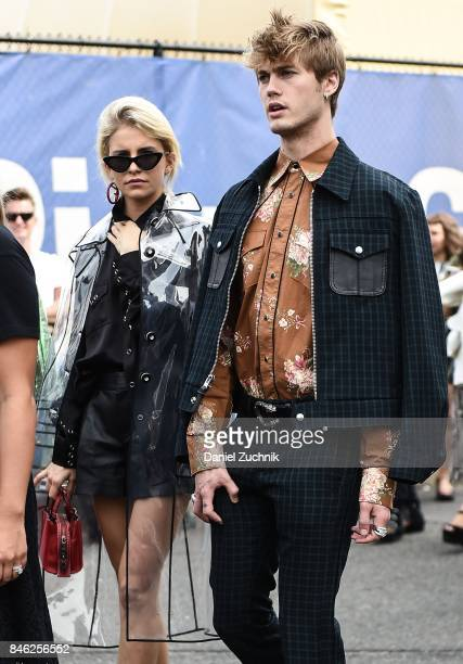 Caroline Daur and Neels Visser are seen outside the Coach show during New York Fashion Week Women's S/S 2018 on September 12 2017 in New York City