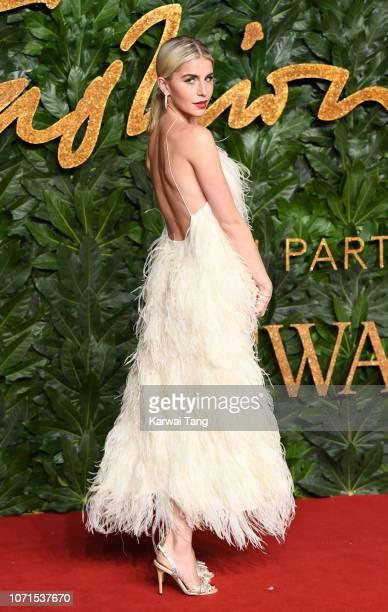 Caroline Daur arrives at The Fashion Awards 2018 In Partnership With Swarovski at Royal Albert Hall on December 10 2018 in London England
