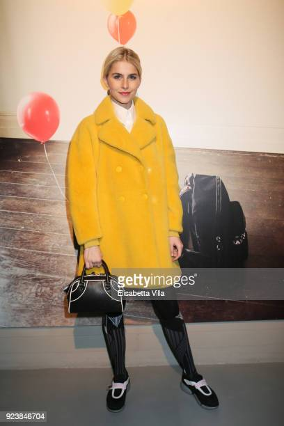 Caroline Daur attended the Bally Autumn Winter 2018 Press Presentation during Milan Fashion Week on February 24 2018 in Milan Italy