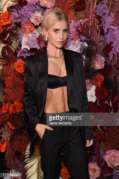 """Caroline Daur attends as Harper's BAZAAR celebrates """"ICONS By Carine Roitfeld"""" at The Plaza Hotel presented by Cartier - Inside on September 06, 2019..."""