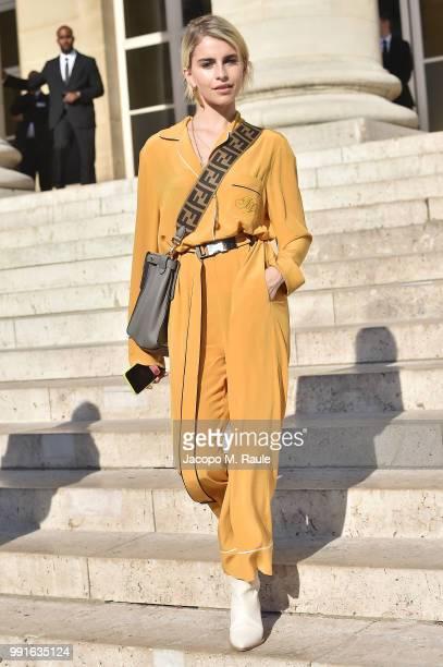 Caroline Daur attends Fendi Couture during Paris Fashion Week - Haute Couture Fall Winter 2018/2019 - on July 4, 2018 in Paris, France.