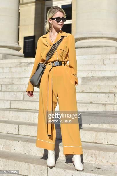 Caroline Daur attends Fendi Couture during Paris Fashion Week Haute Couture Fall Winter 2018/2019 on July 4 2018 in Paris France