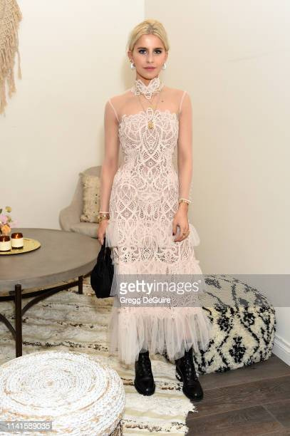 Caroline Daur attends Jonathan Simkhai Sunset Soiree on April 09 2019 in West Hollywood California