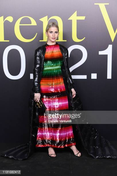 Caroline Daur attends Moncler Genius Show One House Different Voices Milan Fashion Week Autumn / Winter 2019/20 on February 20 2019 in Milan Italy