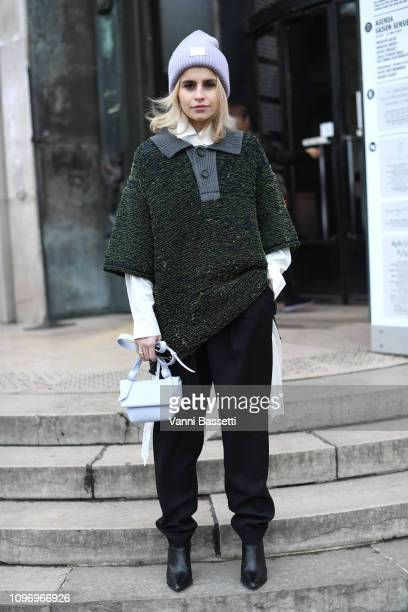 Caroline Daur attends the Acne Femme Fall/Winter 20192020 show as part of Paris Fashion Week on January 20 2019 in Paris France