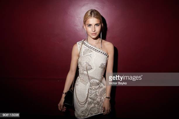 Caroline Daur attends the Balmain Homme Menswear Fall/Winter 20182019 aftershow as part of Paris Fashion Week on January 20 2018 in Paris France