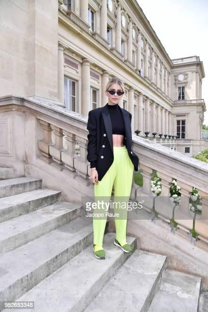 Caroline Daur attends the Balmain Menswear Spring/Summer 2019 show as part of Paris Fashion Week on June 24 2018 in Paris France