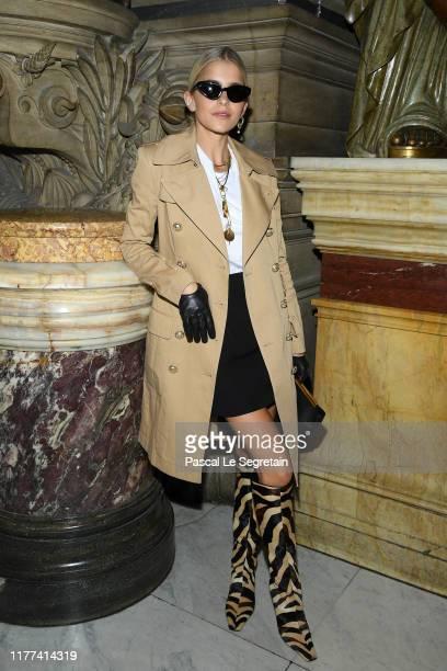 Caroline Daur attends the Balmain Womenswear Spring/Summer 2020 show as part of Paris Fashion Week on September 27, 2019 in Paris, France.