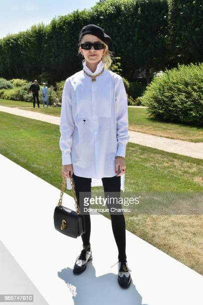 Caroline Daur attends the Christian Dior Couture Haute Couture Fall/Winter 20182019 show as part of Haute Couture Paris Fashion Week on July 2 2018...