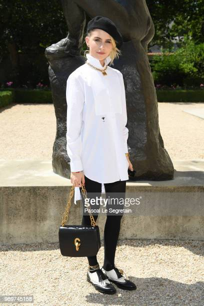 Caroline Daur attends the Christian Dior Haute Couture Fall Winter 2018/2019 show as part of Paris Fashion Week on July 2 2018 in Paris France