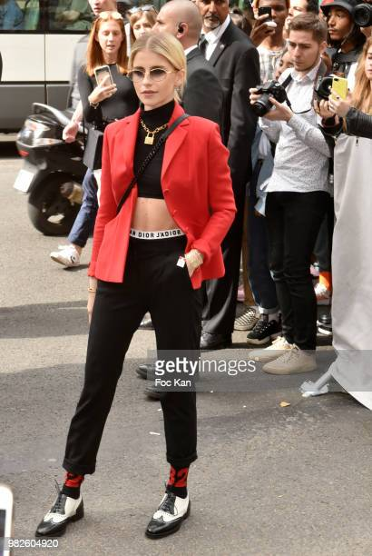 Caroline Daur attends the Dior Homme Menswear Spring/Summer 2019 show as part of Paris Fashion Week on June 23 2018 in Paris France