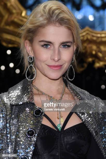 Caroline Daur attends the Dolce Gabbana show during Milan Men's Fashion Week Fall/Winter 2018/19 on January 13 2018 in Milan Italy