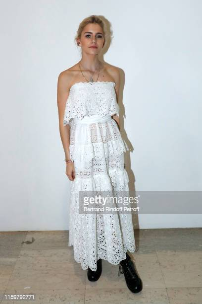 Caroline Daur attends the Elie Saab Haute Couture Fall/Winter 2019 2020 show as part of Paris Fashion Week on July 03 2019 in Paris France