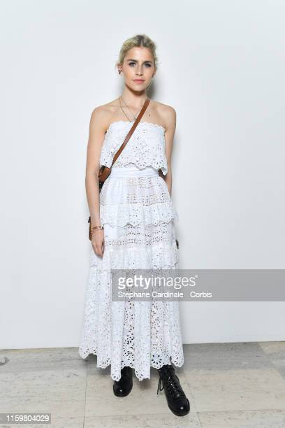 Caroline Daur attends the Elie Saab Haute Couture Fall/Winter 2019 2020 show as part of Paris Fashion Week on July 03, 2019 in Paris, France.