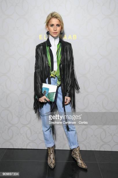 Caroline Daur attends the Elie Saab Haute Couture Spring Summer 2018 show as part of Paris Fashion Week January 24 2018 in Paris France