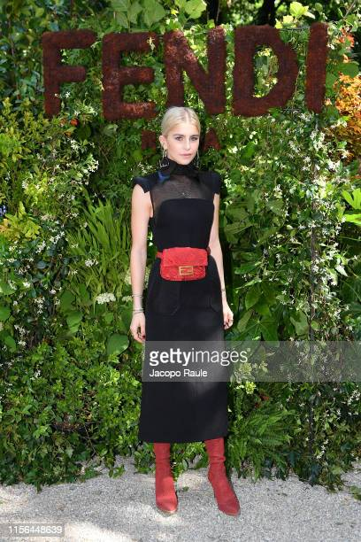 Caroline Daur attends the Fendi fashion show during the Milan Men's Fashion Week Spring/Summer 2020 on June 17 2019 in Milan Italy