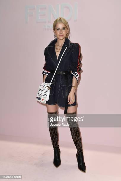 Caroline Daur attends the Fendi show during Milan Fashion Week Spring/Summer 2019 on September 20 2018 in Milan Italy