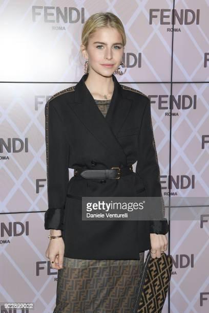 Caroline Daur attends the Fendi show during Milan Fashion Week Fall/Winter 2018/19 on February 22 2018 in Milan Italy
