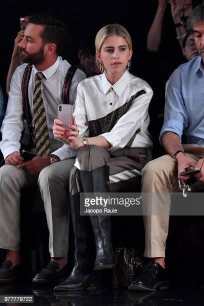 Caroline Daur attends the Fendi show during Milan Men's Fashion Week Spring/Summer 2019 on June 18 2018 in Milan Italy